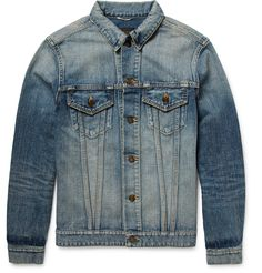 Denim jackets transcend time and trends. <a href='http://www.mrporter.com/mens/Designers/Saint_Laurent'>Saint Laurent</a>'s version will keep you looking cool no matter the year - it's distressed to replicate authentic wear and tear and is finished with a large 'Sweet Dreams' shark appliqué at the back. The motif is a signature of the Spring '17 collection and represents the brand's rakish spirit.