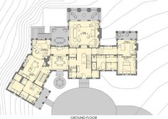 John Reagan Architects - Southern Accents Showhouse in Hot Springs, Virginia Apartment Floor Plans, House Floor Plans, Classical Architecture, Architecture Design, Southern Accents, Elevation Plan, Site Plans, Tiny House Living, Plan Design