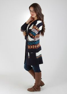 Oversized Tribal Printed Cardigan #tribal #cardigan #kieus