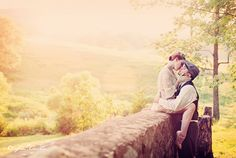 Couple on a wall