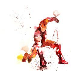 #ironman #aquarelle #blule