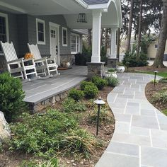 88 Stunning Front Yard Path Walkway Inspiration Ideas Awesome 88 Stunning Front Yard Path Walkway In Front Walkway Landscaping, Front Yard Walkway, Backyard Landscaping, Landscaping Ideas, Front Yards, Concrete Front Porch, Brick Driveway, Front Path, Terraced Landscaping