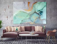 moderne-wall-art-abstract-schlafzimmerdruck-office-painting-grose-wandkunst-grose-abstrakte-leinwand-home-decor-print-farbmalerei-kunst/ - The world's most private search engine Canvas Home, Canvas Wall Art, Canvas Prints, Teal Wall Art, Art Prints, Marble Wall, Marble Print, Modern Wall Art, Large Wall Art
