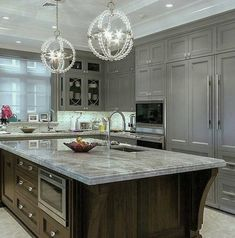 Elegant Grey Kitchen by Grace R (@lovefordesigns) | WEBSTAGRAM