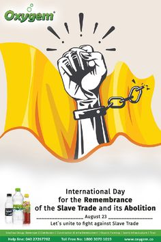 Let`s unite to fight against Slave Trade Pipeline Project, Benefits Of Drinking Water, Water Branding, International Day, Create Awareness, Let It Be