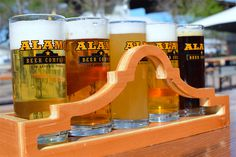 Come have a flight of Alamo Beers at our beer hall and garden.  It's open to the public every Thursday - Sunday.
