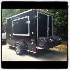 Custom made tailgating trailer.  www.Tow-N-GoTailgates.com