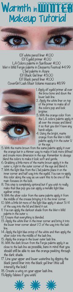 Warmth in Winter Makeup Look - DIY - How To - Step by Step - Makeup Look - Tutorial