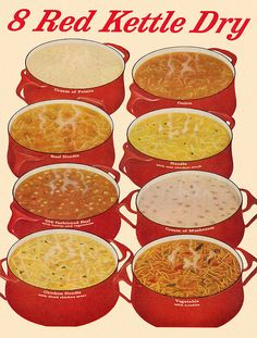 https://flic.kr/p/9EYdGR | Campbell's Red Kettle Ad (2), 1963 | The Dansk pots are nice, though.