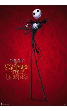 Poster Pesadilla Antes De Navidad-Rojo