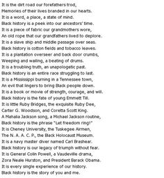 black history poems   Black History Poems