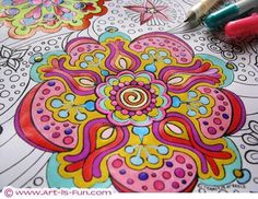 Printable Abstract Coloring Book- These and mandala coloring pages are great for getting some quiet time out of the bigger kids. Colored pencils or markers- or can print on water color paper and paint them in too.