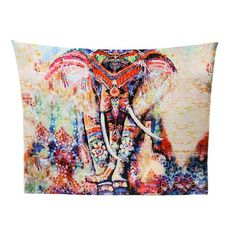 Boho Elephant Mandala Tapestry Bedspread Beach Blanket Large Size many designs Bohemian Tapestry, Mandala Tapestry, Beach Bedspreads, Indian Yoga, Colorful Elephant, Indian Mandala, Wall Carpet, Beach Blanket, Elephant Print