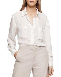 Reiss Lilia Two-Pocket Silk Shirt