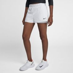 6d6f45f4d5d7 NikeCourt Flex Women s Tennis Shorts Size L Tall (White)