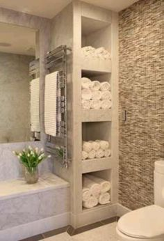 Love that much storage and the towels that close to shower