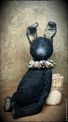 Купить Mr.SPIFFY - чёрный, винтаж, винтажный стиль, коллекционная игрушка, авторская игрушка, тедди
