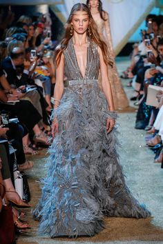Elie Saab Fall 2017 Couture: Laura Haddock