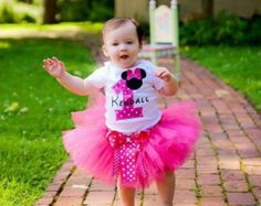 Personalized Minnie Mouse Rainbow tutu by TutuCuteandBowTastic