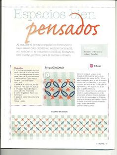 ✿✿Mila Artes Manuales✿✿: BORDADO ESPAÑOL PARTE SEIS Lace Embroidery, Embroidery Stitches, Embroidery Patterns, Bordado Tipo Chicken Scratch, Chicken Scratch Embroidery, Gingham Fabric, Cross Stitching, Smocking, Needlework