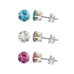 Swarovski Elements Stud Earrings - Sterling Silver Round 5.25mm Crystal Chatons | Jewelry & Watches, Fashion Jewelry, Earrings | eBay!