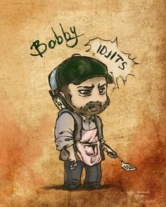 Bobby ^O^ I almost typed Booby-crisis avoided though for some reason I feel entitled to share this vital info with you all Supernatural Bobby, Supernatural Drawings, Jensen Ackles Supernatural, Sherlolly, Jared Padalecki, Sam Winchester, Nerdy Things, Best Tv Shows, Family Business