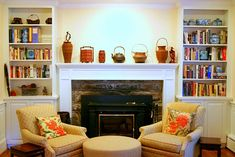 filling gap between built ins and fireplace mantels - Google Search