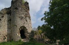 Une tour , château de Blamont à Blâmont. Lorraine