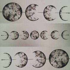 Lunar cycle #lunarcycle #moon #moontattoo #laluna #triplemoon #goddess #moonlore…