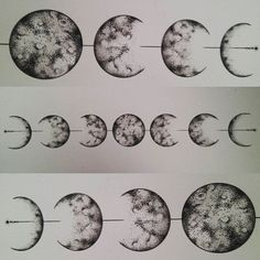 Lunar cycle #lunarcycle #moon #moontattoo #laluna #triplemoon #goddess #moonlore…
