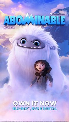 ABOMINABLE is fun for the whole family! Bring home the laughter this holiday season. Own it now on Digital. On Blu-ray & DVD Dec Dreamworks Animation, Disney Animation, Animation Movies, Vanellope Y Ralph, Night Film, Disney Movies To Watch, Happy Stories, Tv Show Music, Movie Sites