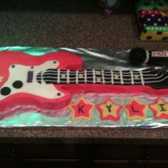 Rock star birthday cake my husband made ~maybe instead of cupcakes?  Dare I travel down that path?