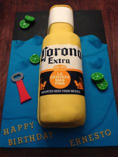 Corona Beer Bottle Cake