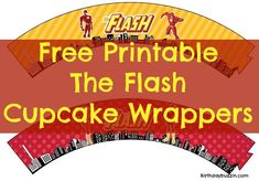 Free Printable The Flash Cupcake Wrappers