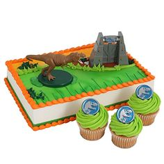 Jurassic World Officially Licensed Cake Topper and 24 Cupcake Topper Rings * Continue to the product at the image link.