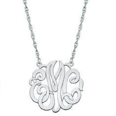 30mm Monogram Necklace - Fakier Jewelers - 1
