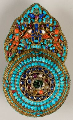 ornaments for a deity, made in Nepal for the Tibetan market between the 17th and 19th centuries.