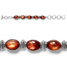 Liquidation Channel: Artisan Crafted Sri Lankan Sunstone Bracelet in Sterling Silver (Nickel Free)