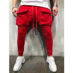 Fashion Pants, Mens Fashion, Fashion Outfits, Casual Pants, Men Casual, Sweatpants Style, Cargo Pants Men, Slim Fit Pants, Streetwear Fashion