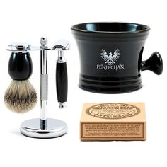 """Eglinton"" 5-Piece Classic Wet-Shaving Kit with Safety Razor, Save $20 - Fendrihan - 1"