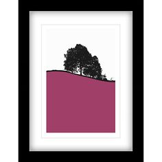 I love our bold abstract framed prints of the British Landscape by Jacky Al-Samarraie - Hawkshead Framed Print, (Pink) 44 x 34cm (John Lewis £40). The deep black box frames and luxurious double mount ooze quality. The bright pink solid colour block against the black silhouette of the trees makes it a bold and effective piece of quality wall art.