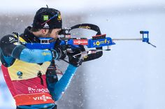 Martin Fourcade of France during the IBU Biathlon World Cup Men's and Women's Pursuit on January 15, 2017 in Ruhpolding, Germany.
