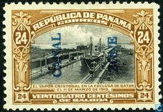 "Panama Canal Zone - S.S. Cristobal """" in the Gatun lock 1917"