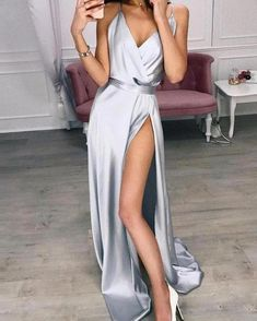 Spaghetti Strap Thigh Slit Evening Dress Spaghetti Strap Thigh Slit Evening Dress Women's Online Shopping Offering Huge Discounts on Dresses, Lingerie , Jumpsuits , Swimwear, Tops and More. Maxi Dress With Slit, The Dress, Slit Skirt, Dress Long, Sexy Dresses, Prom Dresses, Formal Dresses, Dress Prom, Flapper Dresses