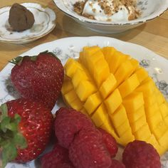 First and third courses greet you upon entering the dining room for breakfast at Inn at Glencairn.  Fresh fruit of the day, Siggi's Vanilla Yogurt with Glencairn Granola (made and sold in house), and your Java Truffle, Chef Lydia's signature breakfast dessert.