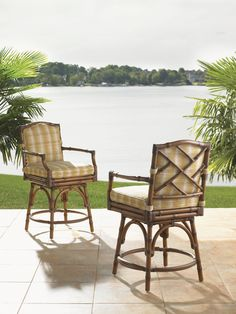 Tropical Counter Stools by Tommy Bahama Outdoor Living #TropicalStools #CoastalFurniture