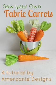 Sew your own Fabric Carrots