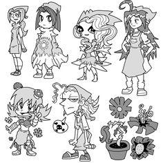 Personajes para Examen by ~SparkusThunderbolt on deviantART