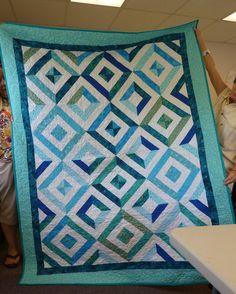 Summer in the Park Quilt.  Strip quilt.  Peace, Robert from nancysfabrics.com