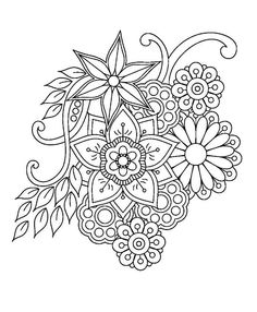 Coloriage Mandala Roses Awesome Pingl Par Nicole Theault Sur - Coloring Page Ideas Free Adult Coloring Pages, Flower Coloring Pages, Mandala Coloring Pages, Coloring Book Pages, Printable Coloring Pages, Coloring Sheets, Zentangle Patterns, Embroidery Patterns, Hand Embroidery